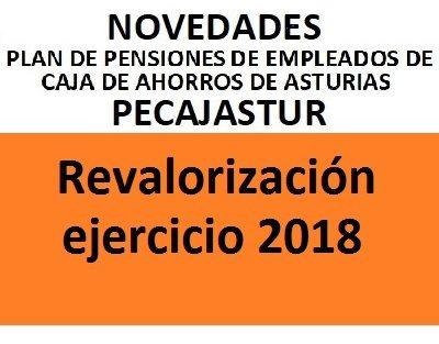 Pecajastur: revalorización ejercicio 2018